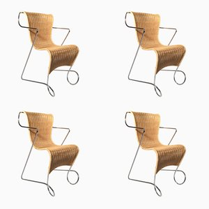 Zigo Stackable Chairs by Ron Arad for Driade, 1993, Set of 4