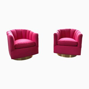 Tufted Swivel Club Chairs, 1970s, Set of 2