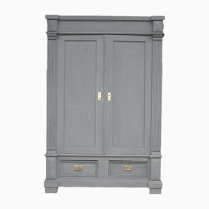 Antique Matt Anthracite Softwood Wardrobe