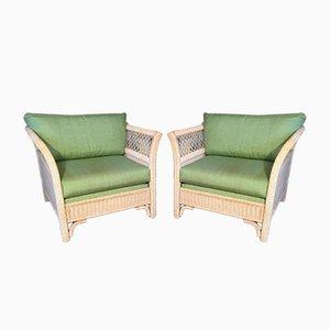 Tuxedo Sessel aus Korbgeflecht von Henry Link für Lexington, 1980er, 2er Set