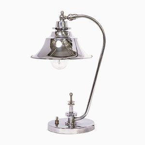 Lampe de Bureau Style Art Déco en Chrome, 1940s