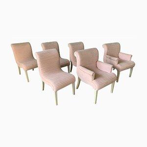 Chaises de Salon Tuftées Rose de Preview Furniture, 1980s, Set de 6