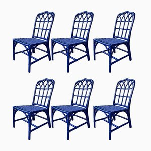 Cathedral Bamboo Dining Chairs from McGuire, 1970s, Set of 6