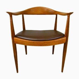Sedia rotonda di Hans J. Wegner per Johannes Hansen, anni '50