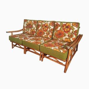 Unterteiltes Vintage Sofa aus Bambus von Ficks Reed, 1970er