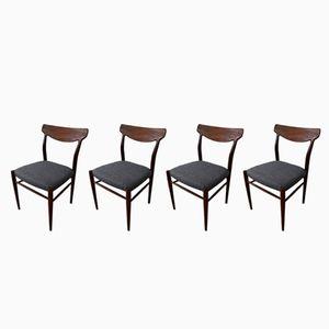 Vintage Teak Dining Chairs, 1960s, Set of 4