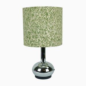 Lámpara de mesa de metal cromado de Doria, años 70