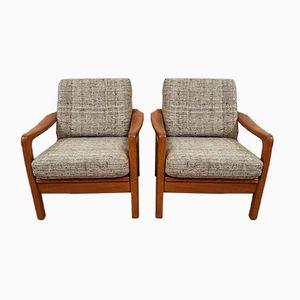 Danish Teak Easy Chairs from Juul Kristensen, 1970s, Set of 2