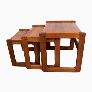 Vintage Teak Nesting Tables from Burchardt-Nielsen, 1960s