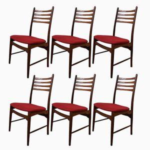 Vintage Teak Dining Chairs, 1950s, Set of 6