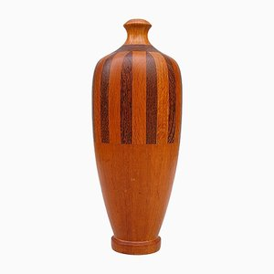 Art Deco Timber Vase, 1920s