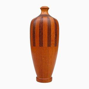 Vase Art Déco en Bois, 1920s