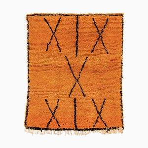 Marokkanischer Vintage Azilal Wollteppich in Orange