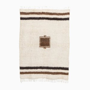 Vintage Turkish Goat Fur Kilim Rug