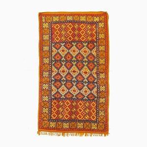 Vintage Moroccan Orange Berber Rug