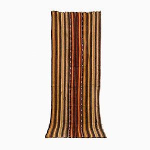 Gestreifter handgewebter marokkanischer Vintage Kelim Teppich