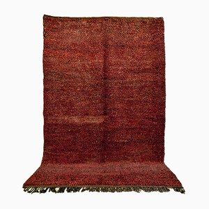 Alfombra bereber marroquí vintage de lana roja