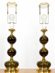 Lámparas de mesa danesas Mid-Century, años 60. Juego de 2