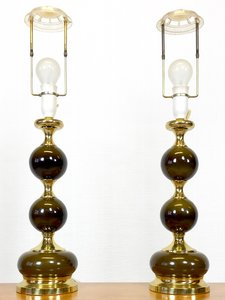 Mid-Century Danish Table Lamps, 1960s, Set of 2