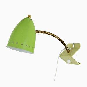 Lampada da parete Sterrenserie verde lime di H.Th.J.A. Busquet per Hala, anni '50