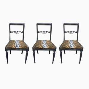 Vintage Dining Chairs, Set of 3