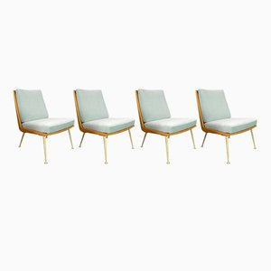 Boomerang Lounge Chairs by Hans Mitzlaff for Eugen Schmidt Soloform, 1953, Set of 4