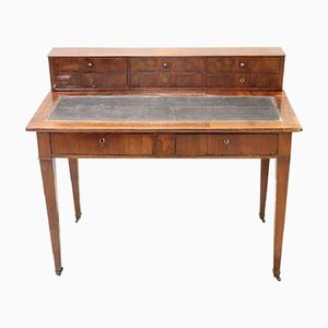 Antique Veneered Walnut Desk, 1850s