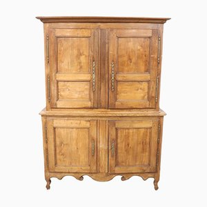 Antique Large French Oak Cupboard, 1850s