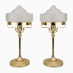 Art Nouveau Table Lamps, 1910s, Set of 2
