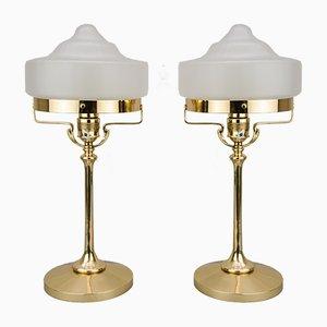 Jugendstil Tischlampen, 1910er, 2er Set