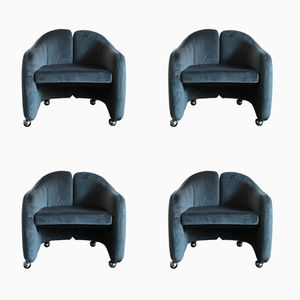 Italian Armchairs by Eugenio Gerli for Tecno, 1960s, Set of 4