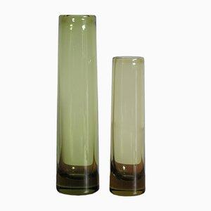 Vasi in vetro di Per Lütken per Holmegaard, Danimarca, anni '60, set di 2