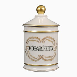 Porcelain Cigarillos Jar from Jacob Hertel, 1960s