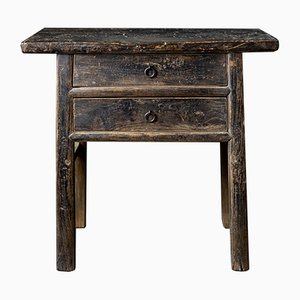 Antique Chinese Black-Painted Elm Table