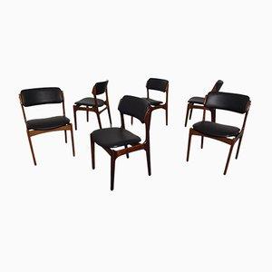 Modell 49 Stühle aus Palisander von Erik Buch für Oddense Maskinsnedkeri, 1960er, 6er Set
