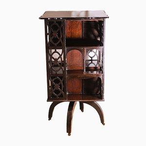 Victorian Mahogany Revolving Bookcase on Castors