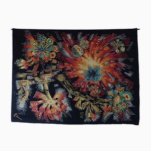 Mid-Century Fleurs du Soleil Tapestry by Robert Debieve