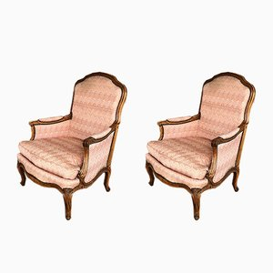 Vintage French Louis XV Style Armchairs, Set of 2