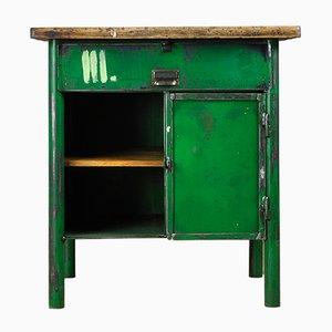 Industrieller grüner Arbeitstisch, 1960er