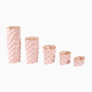 Set de Porcelaines Wave Rose et Doré par Mari JJ Design