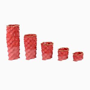 Set de Porcelaines Wave Rouge et Doré par Mari JJ Design