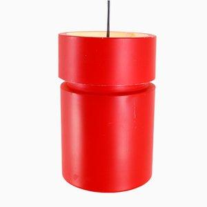 Rote Hängelampen aus Metall, 1960er, 2er Set