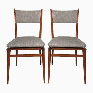 Italienische Esszimmerstühle, 1950er, 2er Set