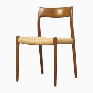 Chaise de Salon Mid-Century en Teck & Cordelette par Niels O. Møller, Danemark