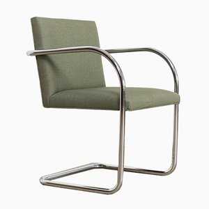 Green Brno Chairs by Ludwig Mies Van Der Rohe for Gordon, 1990s, Set of 4