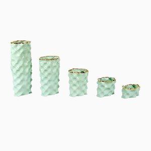 Set de Porcelaines Wave Vert et Doré par Mari JJ Design