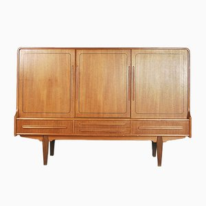 Vintage Danish Teak High Sideboard, 1950s