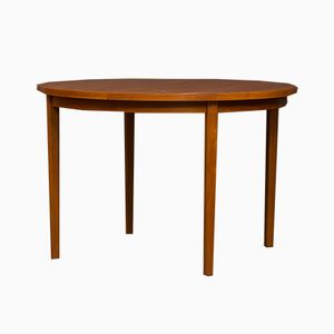 Mid-Century Danish Round Teak Extension Table
