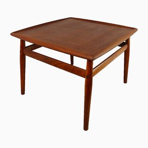Vintage Teak Coffee Table with Raised Edges