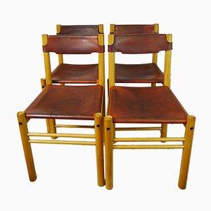 Ipso Facto Esszimmerstühle von Ibisco Sedie, 1970er, 4er Set